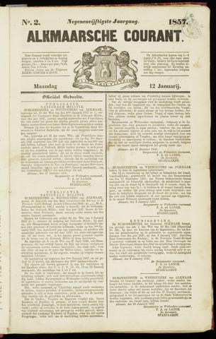 Alkmaarsche Courant 1857-01-12