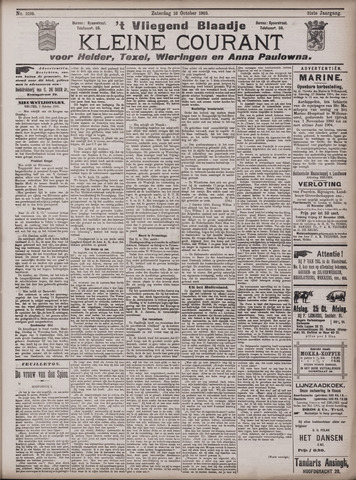 Vliegend blaadje : nieuws- en advertentiebode voor Den Helder 1903-10-10