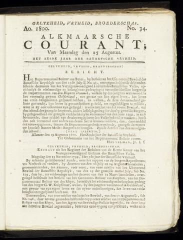 Alkmaarsche Courant 1800-08-25