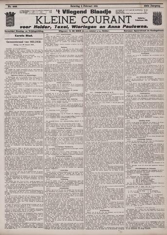 Vliegend blaadje : nieuws- en advertentiebode voor Den Helder 1912-02-03