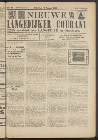Nieuwe Langedijker Courant 1926-01-30