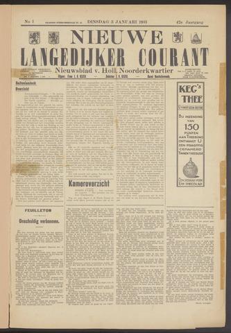 Nieuwe Langedijker Courant 1933-01-03