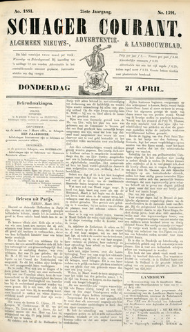 Schager Courant 1881-04-21