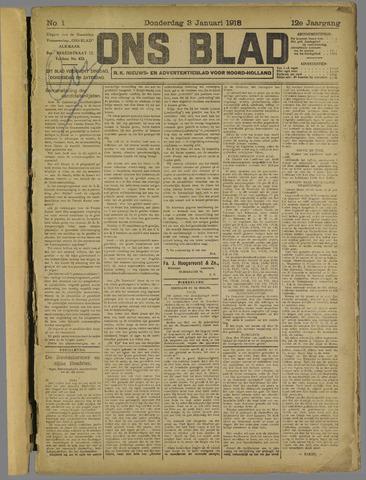 Ons Blad : katholiek nieuwsblad voor N-H 1918-01-03