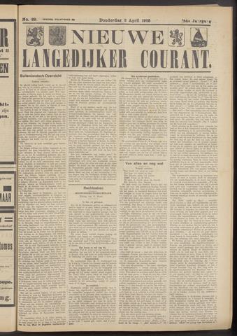 Nieuwe Langedijker Courant 1925-04-02