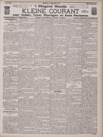 Vliegend blaadje : nieuws- en advertentiebode voor Den Helder 1912-08-17