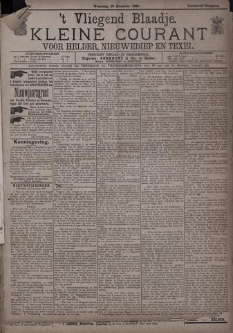 Vliegend blaadje : nieuws- en advertentiebode voor Den Helder 1886-12-29