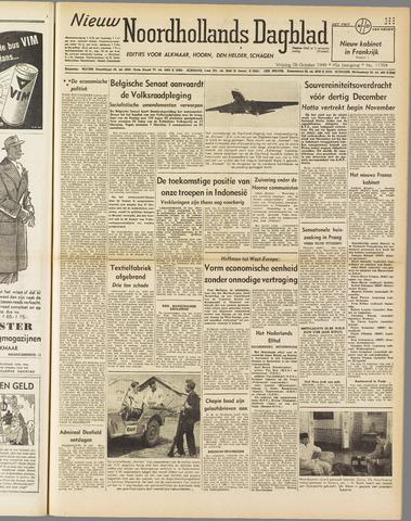 Nieuw Noordhollandsch Dagblad : voor Alkmaar en omgeving 1949-10-28