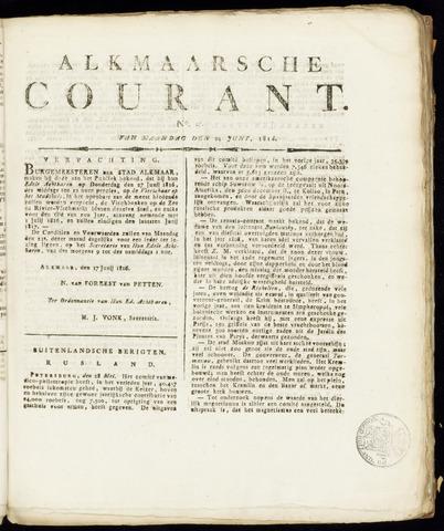 Alkmaarsche Courant 1816-06-24