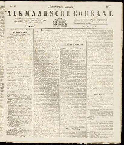 Alkmaarsche Courant 1874-03-29