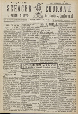 Schager Courant 1920-04-17