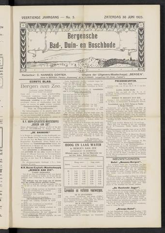 Bergensche bad-, duin- en boschbode 1923-06-30