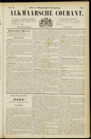 Alkmaarsche Courant 1892-06-01
