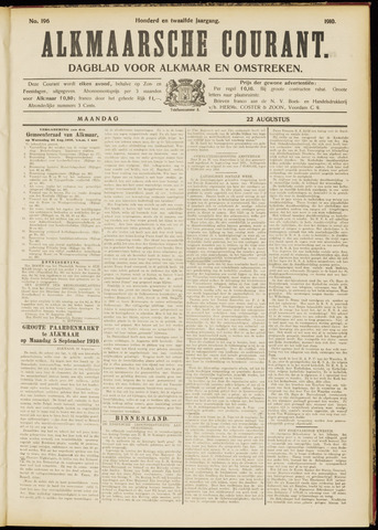 Alkmaarsche Courant 1910-08-22