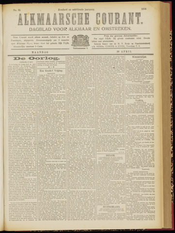 Alkmaarsche Courant 1916-04-10