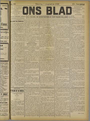 Ons Blad : katholiek nieuwsblad voor N-H 1916-08-01