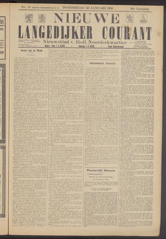 Nieuwe Langedijker Courant 1930-01-30