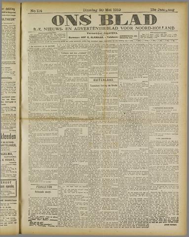 Ons Blad : katholiek nieuwsblad voor N-H 1919-05-20