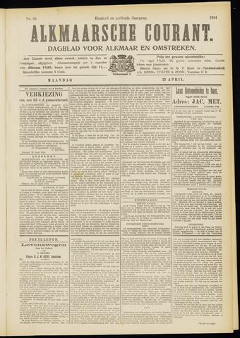 Alkmaarsche Courant 1914-04-27