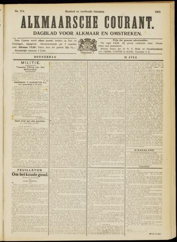 Alkmaarsche Courant 1912-07-25