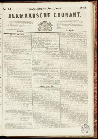 Alkmaarsche Courant 1863-04-19