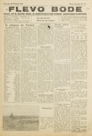 Flevo-bode: nieuwsblad voor Wieringen-Wieringermeer 1946-02-20