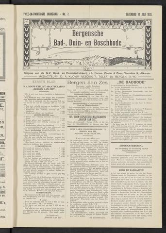 Bergensche bad-, duin- en boschbode 1931-07-11