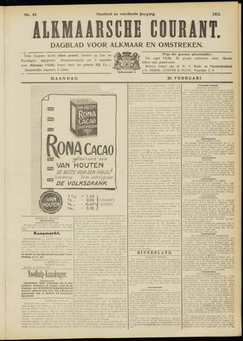 Alkmaarsche Courant 1912-02-26