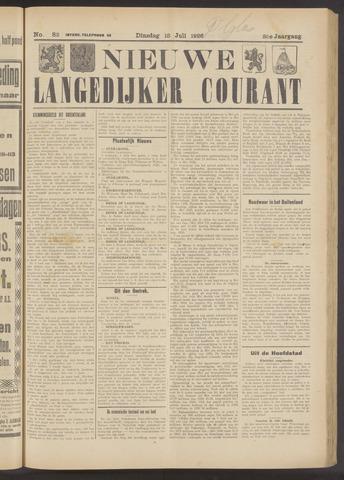 Nieuwe Langedijker Courant 1926-07-13