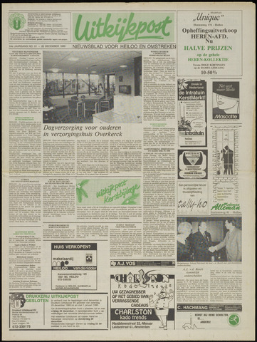 Uitkijkpost : nieuwsblad voor Heiloo e.o. 1989-12-20