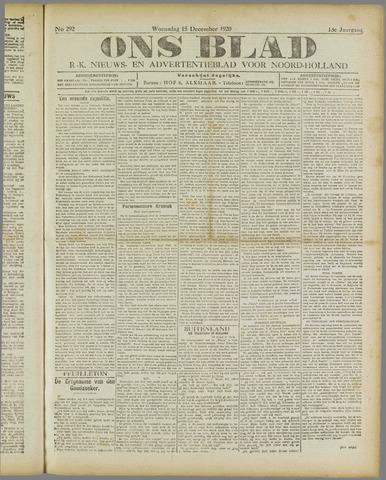 Ons Blad : katholiek nieuwsblad voor N-H 1920-12-15