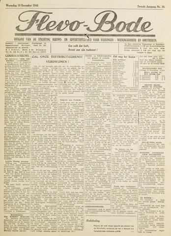 Flevo-bode: nieuwsblad voor Wieringen-Wieringermeer 1946-12-18