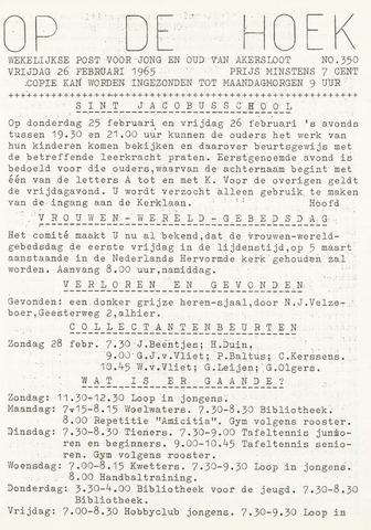 Op De Hoek, weekblad voor Akersloot 1965-02-26