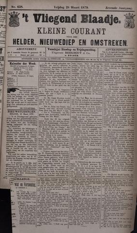 Vliegend blaadje : nieuws- en advertentiebode voor Den Helder 1879-03-28