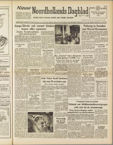 Nieuw Noordhollandsch Dagblad : voor Alkmaar en omgeving 1950-09-06