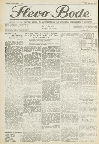 Flevo-bode: nieuwsblad voor Wieringen-Wieringermeer 1949-11-19