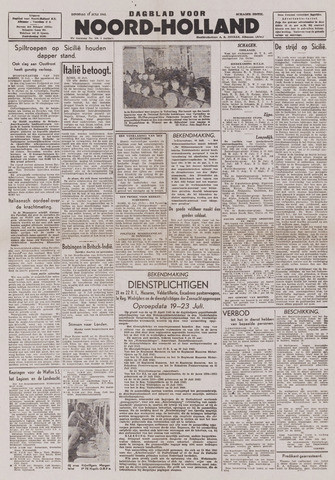 Dagblad Noord-Holland, Schager editie 1943-07-13