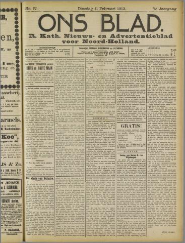 Ons Blad : katholiek nieuwsblad voor N-H 1913-02-11