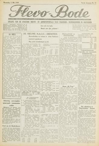 Flevo-bode: nieuwsblad voor Wieringen-Wieringermeer 1949-05-11
