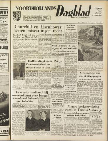 Noordhollands Dagblad : dagblad voor Alkmaar en omgeving 1954-07-13