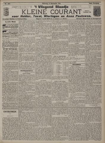 Vliegend blaadje : nieuws- en advertentiebode voor Den Helder 1910-09-17