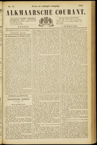 Alkmaarsche Courant 1885-02-01