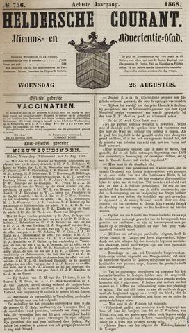 Heldersche Courant 1868-08-26