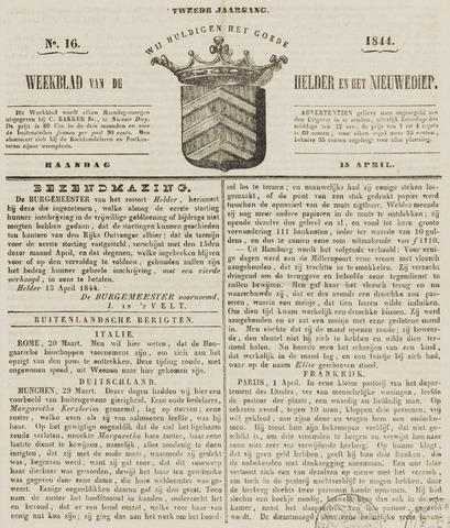 Weekblad van Den Helder en het Nieuwediep 1844-04-15