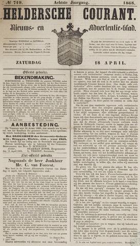 Heldersche Courant 1868-04-18
