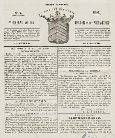 Weekblad van Den Helder en het Nieuwediep 1846-02-16