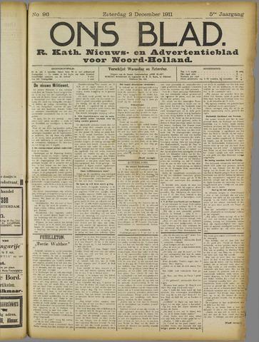 Ons Blad : katholiek nieuwsblad voor N-H 1911-12-02