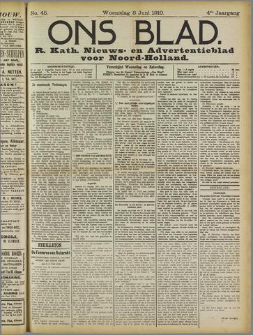 Ons Blad : katholiek nieuwsblad voor N-H 1910-06-08