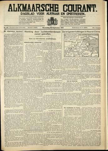 Alkmaarsche Courant 1937-09-22