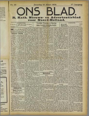 Ons Blad : katholiek nieuwsblad voor N-H 1909-03-20